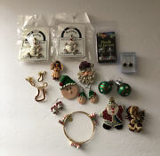 Holiday Jewelry Mixed Lot Christmas Vintage Modern Signed Unsigned