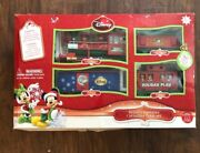 Disney 20 Piece Christmas Train Set Battery Operated New In Box