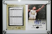 2013-14 Upper Deck All Time Greats David Robinson Auto Booklet 1/15 Navy Hof