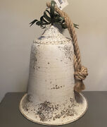 Decorations Large Farmhouse Rustic White Bell Hanging Decor