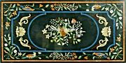 4and039x2and039 Marble Top Dining Table Multi Stone Birds And Floral Inlay Garden Decor B413