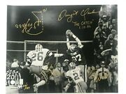 Dwight Clark, Everson Walls And Michael Downs Signed The Catch W/hand Drawn Play