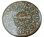 44 Round Marble Dining Table Top Multi Stone Marquetry Inlay Garden Decors B429
