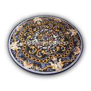 3and039 Pietra Dura Marquetry Inlay Marble Top Dining Table Christmas Decor Gift B431