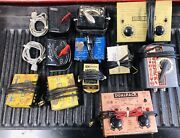 Large Mixed Lot Model Train Cars, Locomotives, Track, Controllers, Many Sizes