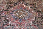 9and0397x12and0397 Semi Antique Azerbaijani Heris Tribal Hand Knotted Wool Area Rug 10x13
