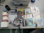 Assorted Lot Of New And Used Outboard Boat Parts As Seen In Picture