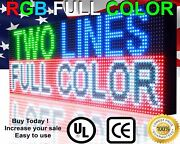 Bright Led Signs Multi-color 12 X 63 Window Digital Display Programmable