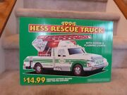 Vintage 1994 Hess Toy Rescue Truck Store Display Pump Topper Sign 18x12