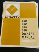 Gravely 810, 812, 814, 816 Owners Manual H4