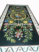 5and039x3and039 Multi Floral And Parrot Inlay Art Marble Top Dining Table Hallway Decor B469