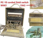 Field Pc-10 Corded Field Switch Soviet Red Army 1943 Extra Rare