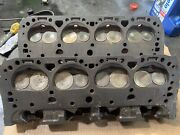 Pair Small Block Fuelie 3890462 2.02 1.60 Camel Hump Heads Both Dated 12/8/66