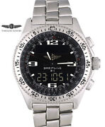 Menand039s Breitling B1 Chronograph A68362 Stainless Steel 43mm Black Dial Boxandpapers