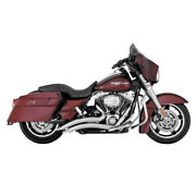Vance And Hines Big Radius 2-into-2 Exhaust Pipes Chr Harley Flh Flt 2009-16