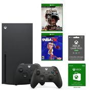 Xbox Series X Game System Nba + Cod +50 Xbox Live Card + 3month Xbox Ultimate