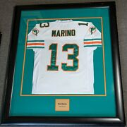 Dan Marino Framed And Signed Dolphins Jersey Lisa Ann Personally Owned Psa/dna Coa