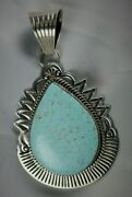 Number 8turquoise Pendant Sterling Silver .925 Custom Handmade Natural Signed