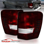 Fit 1999-2004 Jeep Grand Cherokee Dark Red Tail Lights Pair
