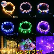 Christmas Led String Fairy Lights Usb Copper Wire Remote Timer Xmas Party Home