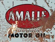 Tin Sign Amalie Motor Gas-oil Games Signs Rustic Wall Decor
