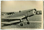 01101 German Wwii Archive Photo Luftwaffe Klemm Kl 35 Aircraft On Airfield