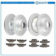 Ceramic Brake Pads And Rotors Front Rear For Bmw 325i 2006