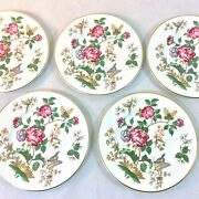 Wedgwood Charnwood Set 5 Bread Hor D' Hoeurve Plates 6 Brn Stamp Butterfly Bee