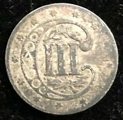 United States 1857 Silver 3 Cent Trime American Type Coin