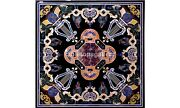 42 Marble Top Designer Dining Table Inlaid Lapis Parrot Arts Living Decor B560a