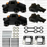 4 In Exhaust Elbow Manifold Complete Kit Mercruiser Gm V6 4.3l Replace 99746a8