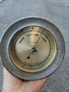 Vtg 5.5 Taylor Nickel Weather Shipand039s Barometer Maritime Nautical Cracked Glass