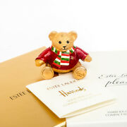 2010 Harrods Christmas Bear Estee Lauder Solid Perfume Compact Limited Edition