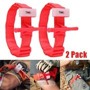 2xmilitary Tourniquet Rapid One Hand Application Emergency Outdoor First Aid Kit