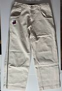Jnco Jeans White Off White Skunk With Piping, Vintage 36 X 32 Rare