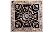 36 Black Marble Dining Table Top Scagliola Inlaid Art Christmas Decor Gift B562