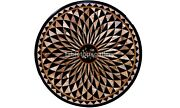 3and039 Marble Round Dining Table Top Geometrical Inlay Art Interior Home Decor B572a