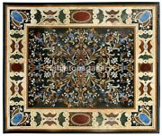 4and039x3and039marble Dining Table Tops Pietra Dura Inlay Marquetry Art Garden Decor B574