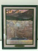 1995 M/c Legend Of The Seas Inaugural Sail - Framed 16 X 13.5 Limited Edition