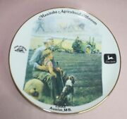 Collectible Manitoba Agricutlural Museum John Deere Moline Tractor Plate 9 1/4