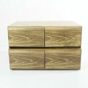 2 Vintage Vhs Tape Storage Cabinets Wood Grain Box Holds 36