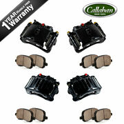 Front And Rear Brake Calipers Pads For Yukon Tahoe Escalade Silverado Avalanche