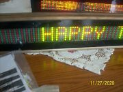 Color Cells Cc784 Lighted Scrolling Sign And Keypad And Power Supply Cords 2 Signs