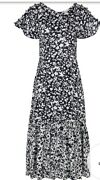Rrp £280 Lily And Lionel Rae Blossom Print Maxi Dress - Navy