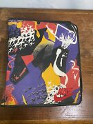 Vintage Mead Nike Jordan All Over Print 90andrsquos Binder Zip Rare Multicolor Used