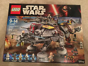 Lego 75157 Star Wars Captain Rexand039s At-te Retire Set Brand New