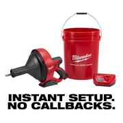 Milwaukee Tool M12 12v Lithium-ion Cordless Auger Snake Drain Cleaning Kit