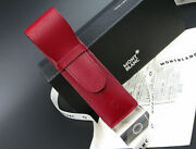 Mont Blanc Scabbard Porta 2 Pen Leather Red Box New Pen Case With Red Leather