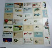 33 Antique Christmas Holiday 1900and039s Correspondence Postcards