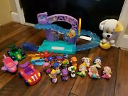 Bubble Guppies Rock-n-roll Musical Light Up Stage Playset 10 Roll Figures Lot